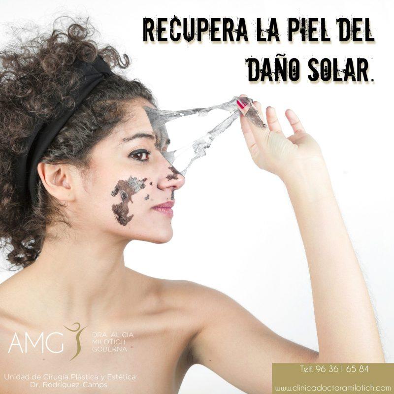 Recupera la piel del daño solar.
