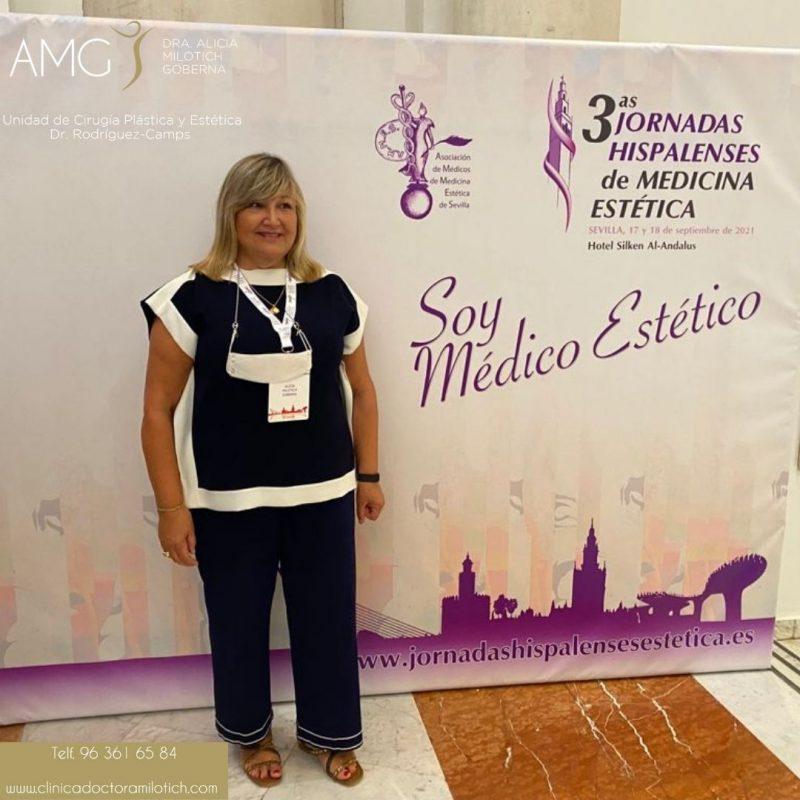 La Dra. Alicia Milotich en las Jornadas Hispalenses.